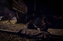Night in Idomeni camp