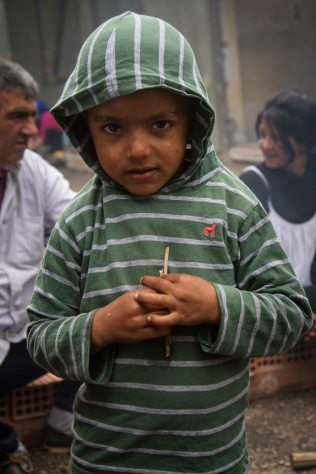 A young boy at Ritsona camp, which is home to around 650 people