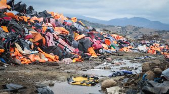 The 'lifejacket graveyard', northern Lesvos